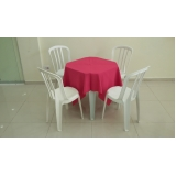 aluguel de mesa com 4 cadeiras Barueri