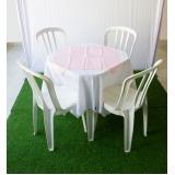 aluguel de mesa e cadeira preço Parque Flórida