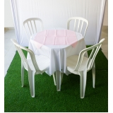 aluguel de mesa e cadeira preço Boa vista