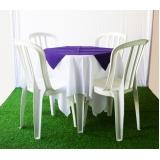 aluguel de mesa para aniversário preço Jardim Ângela Maria