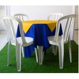 aluguel de mesas com 4 cadeiras Jardim Veloso
