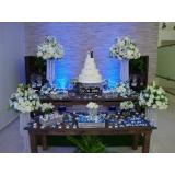 locação de artigos para decoração casamento preço Vila Cristina