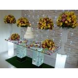 locação de artigos para decoração casamento valor Jardim das Belezas