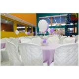 locação de espaço com buffet para aniversário preço TUPANCI