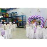 locação de espaço para festa infantil valor Jardim Ângela Maria