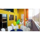 locação de espaço para festas e eventos preço Vila Municipal