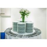 locação de pratos e talheres para casamento valor Vila Cretti