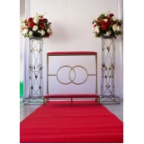 locação para pilastras para casamento valor Vila Mercês