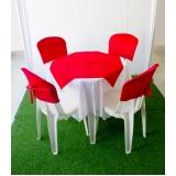 onde encontro aluguel de mesa com 4 cadeiras Vila Quitaúna
