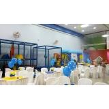 onde encontro locação de espaço com buffet para aniversário Vila Cretti