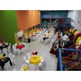 onde encontro locação de espaço com buffet Jardim Ângela Maria