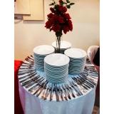 onde encontro locação de pratos e talheres para casamento Boa Vista