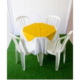 quanto custa aluguel de mesa com 4 cadeiras Vila Cretti